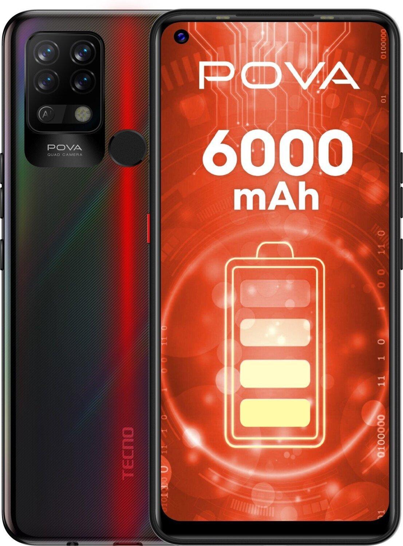 Смартфон TECNO Pova (LD7) 6/128Gb DS Dazzle Blackфото1