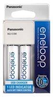 Зарядний пристрій Panasonic Compact Charger USB + Eneloop 2AA 1900 mAh NI-MH (K-KJ80MCC20USB)