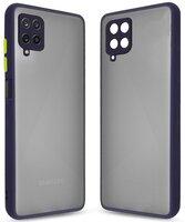 Чехол MakeFuture для Galaxy A12 Frame Matte PC+TPU Blue (MCMF-SA12BL)