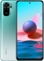 Смартфон Xiaomi Redmi Note 10 4/128Gb Lake Green (M2101K7AG)