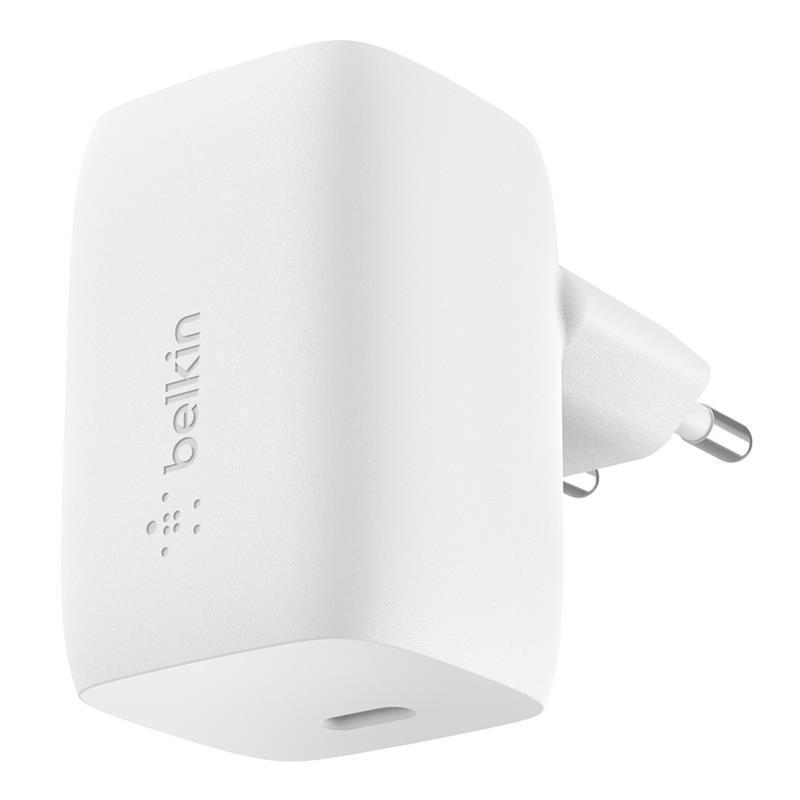Мережевий зарядний пристрій Belkin Home Charger 60W GAN USB-С White (WCH002VFWH)фото