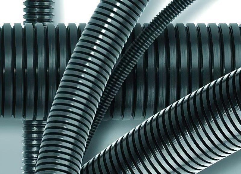 Труба DKC гофрированная, полиамид (PA602935F0) фото