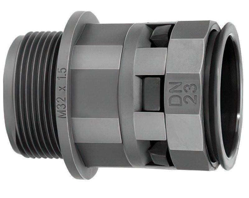 Муфта DKC труба-коробка DN17мм, M20х1.5 (PAM17M20N) фото