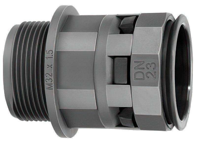 Муфта DKC труба-коробка DN23мм, M25х1.5 (PAM23M25N)фото