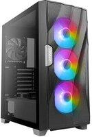 Корпус Antec DF700 FLUX, Gaming, MidT, 2*USB3.0, 3*102ARGB+2x120мм,стекло (бок. панель),без БП,черны (0-761345-80070-9)