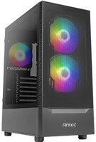 Корпус Antec NX410 Gaming, MidT, 2*USB2.0, 1*USB3.0, 2*140 + 2*120ARGB, скло (бок. Панель), без БП, чер (0-761345-81041-8)