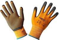Перчатки NEO рабочие, нейлон с нитриловыми точками, размер 8 (97-621-8)