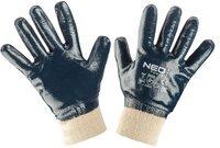 Перчатки NEO рабочие, хлопок с полным нитриловым покрытием, размер 9 (97-630-9)