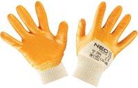 Перчатки NEO рабочие, хлопок, частично покрытые нитрилом, размер 8 (97-631-8)