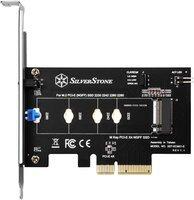Плата-адаптер SilverStone PCIe x4 для SSD m.2 NVMe (SST-ECM21-E)