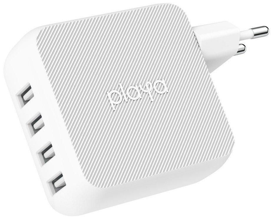 Сетевое зарядное устройство Playa by Belkin Home Charger 40W 4хUSB White (PP0003VFC2-PBB) фото 1