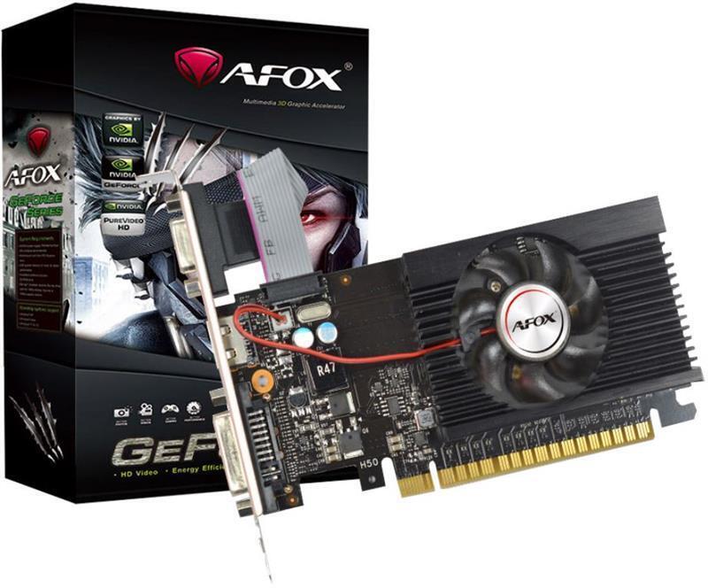 Відеокарта AFOX Geforce GT710 2GB DDR3 (AF710-2048D3L1-V2)фото1