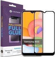 Захисне скло MakeFuture Galaxy A02 Full Cover Full Glue (MGF-SA02)