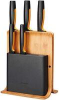 Набір ножів Fiskars FF з бамбуковою підставкою, 5 шт (1057552)