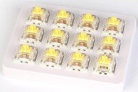 Набор механических переключателей KEYCHRON Gateron Switch with Holder Set 12Pcs/Set Yellow (Z4_KEYCHRON)