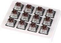 Набор механических переключателей KEYCHRON LK Optical Switch with Holder Set 12Pcs/Set Brown (Z10_KEYCHRON)