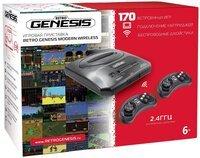 Игровая консоль Retro Genesis 16 bit Modern Wireless (170 игр, 2 беспроводных джойстика) (ConSkDn78)