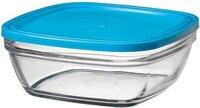 Контейнер Duralex Lys Carre квадратний з синьою кришкою 23 см, 3100 мл (9024AM06)