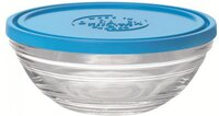 Контейнер Duralex Lys Carre круглий з синьою кришкою 23 см, 2400 мл (9068AM06)