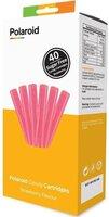 Набор картриджей для 3D ручки Polaroid Candy pen, клубника, розовый (40 шт)
