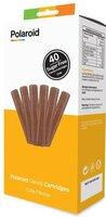 Набор картриджей для 3D ручки Polaroid Candy pen, кола, коричневий ( 40 шт)