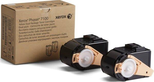 Купить Картриджи к лазерной технике, Тонер-картридж лазерный Xerox PH7100 Yellow, Max (106R02611)