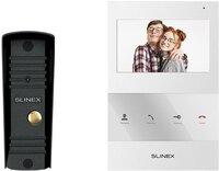 Комплект відеодомофона Slinex SQ-04 White + Панель Slinex ML-16HR Black