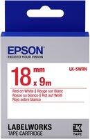 Картридж с лентой Epson LK5WRN принтерів LW-400/400VP/700 Std Red/Wht 18mm/9m (C53S655007)