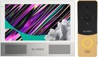 Комплект видеодомофона Slinex Sonik 7 White + Панель Slinex ML-20HD Gold Black