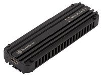 Портативный корпус SilverStone для SSD NVMe M.2 SST-MS12 USB 3.2 Type-C 20Gbps (2242/2260/2280)
