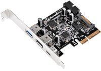 Плата-адаптер PCIe x2 USB 3.1 Type-C + Type-A SST-ECU05