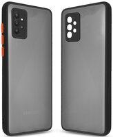 Чехол MakeFuture для Galaxy A72 Frame Matte PC+TPU Black (MCMF-SA72BK)
