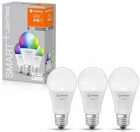 Набір ламп LEDVANCE OSRAM LEDSMART + WiFi A60 9W (806Lm) 2700-6500K + RGB E27, 3шт (4058075485754)