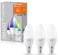 Набір ламп LEDVANCE OSRAM LEDSMART + WiFi B40 5W (470Lm) 2700-6500K + RGB E14, 3шт (4058075485938)