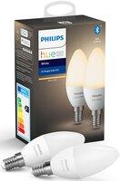 Комплект ламп Philips Hue E14, 5.5W(40Вт), 2700K, White, Bluetooth, диммируемая, 2шт