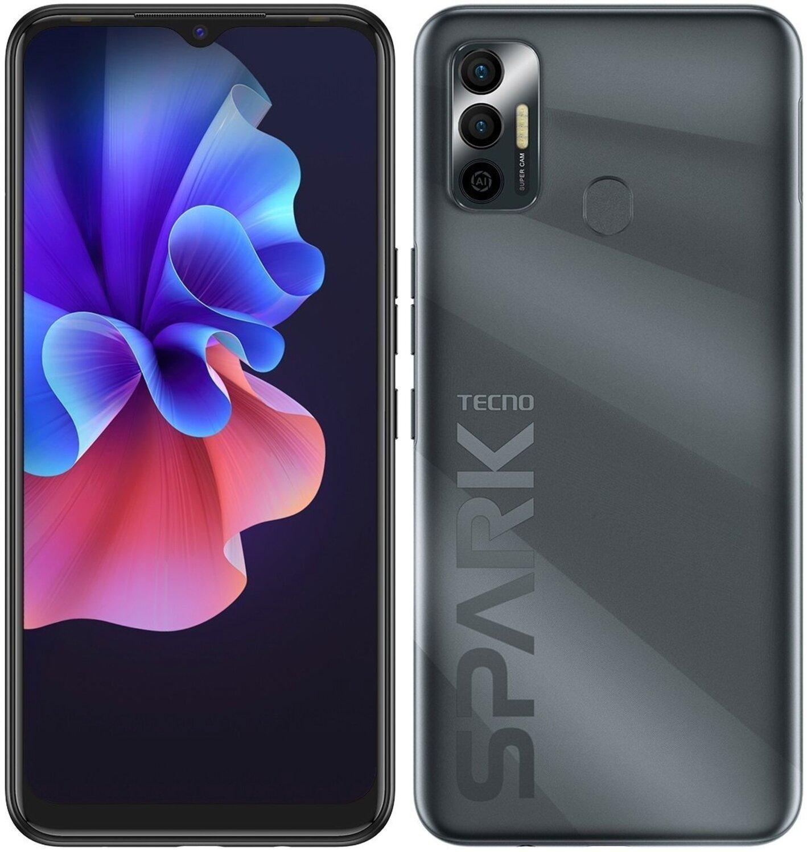 Смартфон TECNO Spark 7 (KF6n) 4/128Gb NFC Magnet Black фото