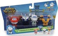 Игровой набор Super Wings Transform-a-bots, 4 фигрки-трансформеры, Джетт, Пол, Донни строитель