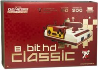 Игровая консоль Retro Genesis 8 Bit HD Classic (300 игр, 2 беспроводных джойстика, HDMI кабель) (CONSKDN89)