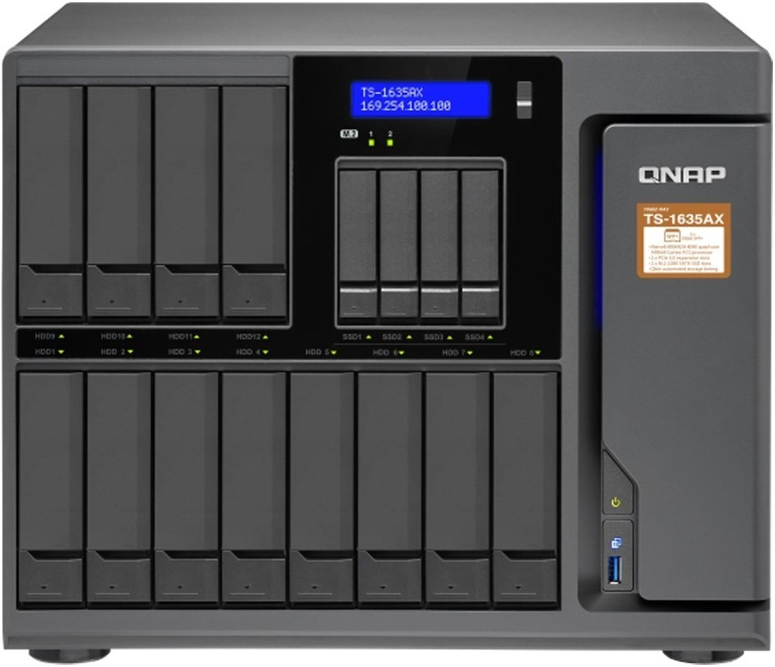 Сетевое хранилище QNAP TS-1635AX-8G (10GbE)фото