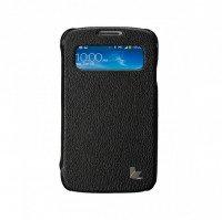 Сумка к мобильным телефонам JISONCASE для Samsung Galaxy S4 Premium Leatherette Folio Case Black