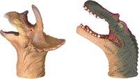 Игровой набор Same Toy Пальчиковый театр 2 ед, Спинозавр и Трицератопс X236Ut-4