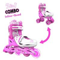 Ролики Neon COMBO SKATES Розовый (Размер 30-33)