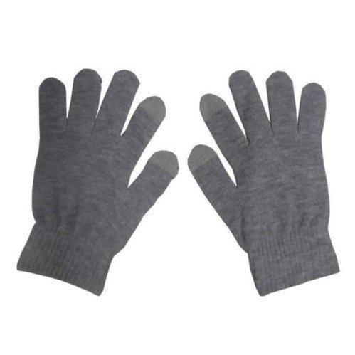 Перчатки Global touch screen (M, серые) фото 1