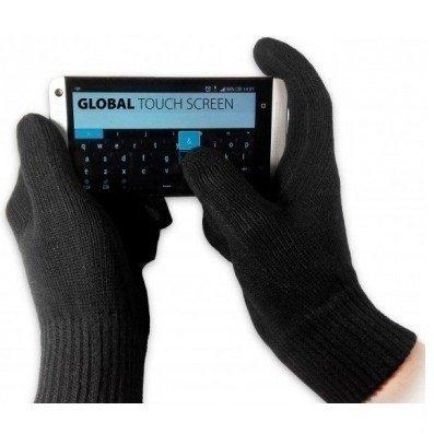 Перчатки Global touch screen (M, черные) фото 1