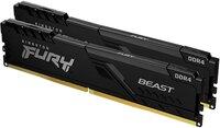 Память для ПК Kingston DDR4 3000 16GB KIT (8GBx2) Fury Beast Black (KF430C15BBK2/16)