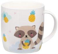 Чашка Ardesto Cute raccoon 350 мл, фарфор (AR3415)
