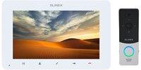 Комплект видеодомофона Slinex SM-07HD White + Вызывная панель Slinex ML-20HD Silver Black
