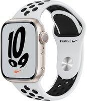 Смарт-часы Apple Watch Series 7 Nike Starlight 41mm Pure Platinum/Black NikeBand