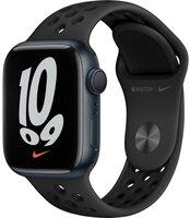 Смарт-часы Apple Watch Series 7 Nike Midnight 41mm Anthracite/Black NikeBand