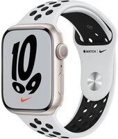 Смарт-часы Apple Watch Series 7 Nike Starlight 45mm Pure Platinum/Black NikeBand